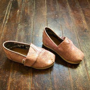 Toms Plink Glitter Shoes Toddler Size 6